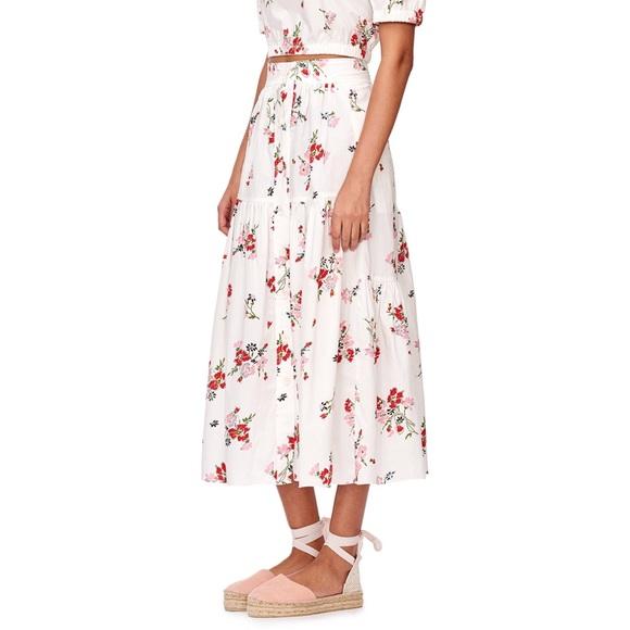 7548750e1a Rebecca Taylor Skirts | Marguerite Poplin Midi Skirt | Poshmark